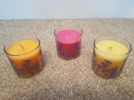 Partylite scented candle trio summer drinks trio.