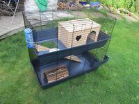F 2 Tier/Double Indoor Large Pet Rabbit Cage / RATS / Ferrets etc