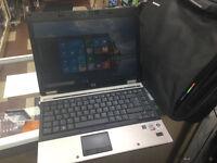 "Windows 10, HP Elitebook 6930p Laptop, core 2 duo 64bit ,14.1"" WideScreen,Office 2010 with free bag"