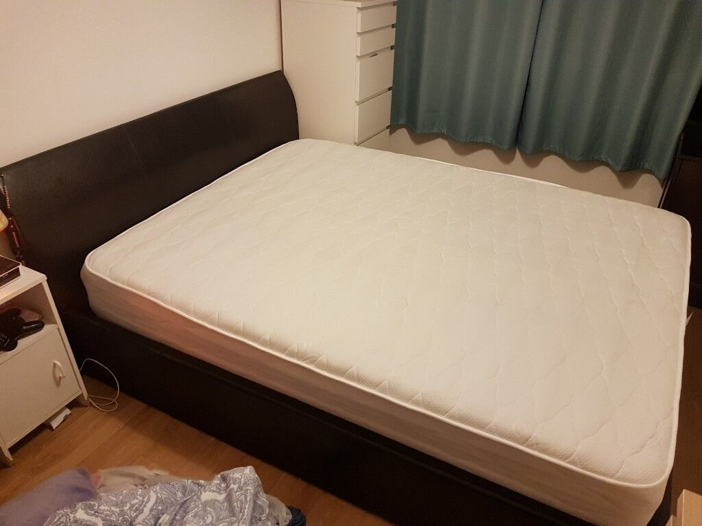 King Size Otoman Bed And Mattress In Excellent Condition Very Sturdy