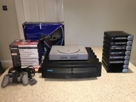 PS2 Sony Play Station games console with 18 games, dance mat plus other accessories £50