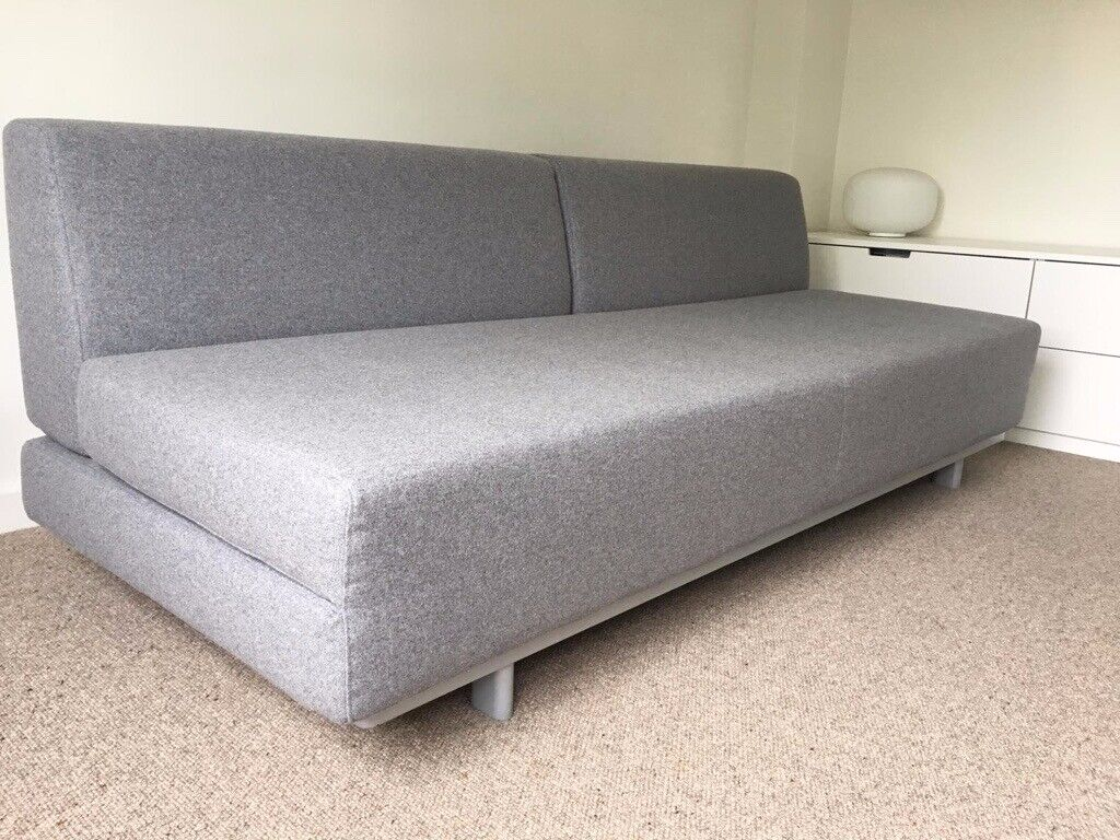 Cool Perfect Muji T2 Double Sofa Bed In Light Grey Felt In Crystal Palace London Gumtree Bralicious Painted Fabric Chair Ideas Braliciousco