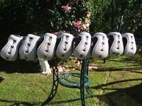 Full Set of Maxfli Hybrid Golf Clubs including Head Covers