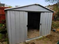 Yardmaster Grey Galvanised steel Shed approx 9ft x 9ft