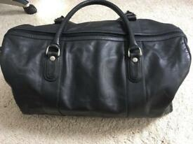 Audi black leather holdall