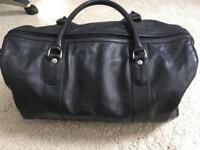 Audi black leather holdall