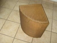 Lloyd Loom corner laundry basket. Excellent condition. Gold colour.