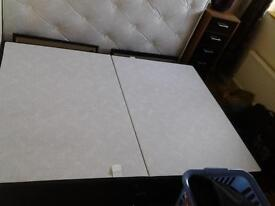 Double divian bed with mattress