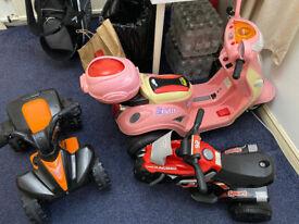 Job Lot of Kids Electric Bikes