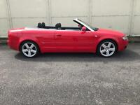 2005 AUDI A4 CONVERTIBLE S LINE 1.8T RED FULL LEATHER VGC PX