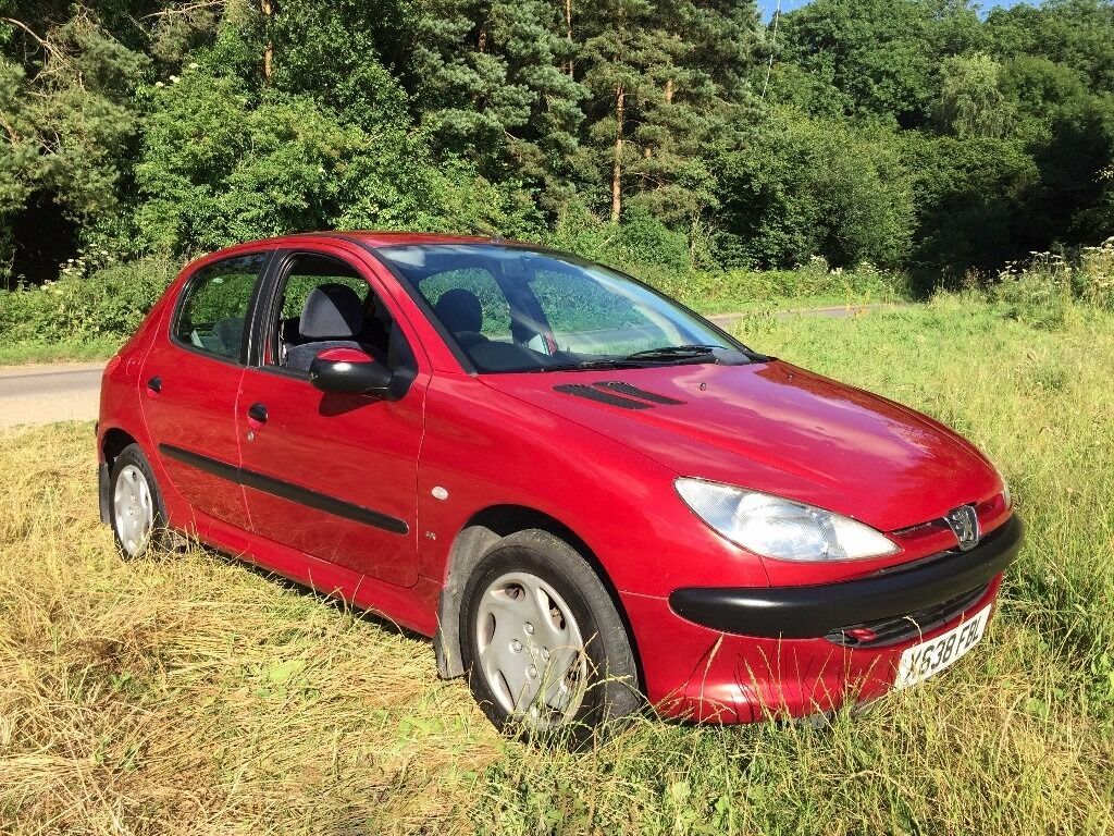 Peugeot 206 1.4 LX 2000 X-Reg, Met Red, 5 Door, MOT