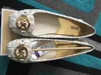 Orignal Michael kors off white or black flat shoes brand new