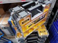 BRAND NEW X 10 DEWALT STANLEY FATMAX DEEP PRO ORGANISERS TOOL BOX 10 Compartments Tool Boxs