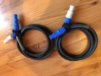 Neutrik Powercon - Powercon cables 2m (pair)
