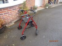 Mobility wheeled walker with seat