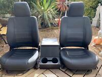 Defender front seats & cubby box