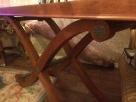 Oak large console table and coffee table