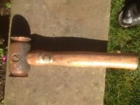 Number 1 and 2 copper hammers