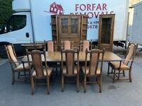 Ercol extending dining table & 8 chairs * free furniture delivery *