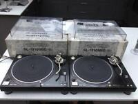 2x Technics SL 1210 MK5G 1200 M5G Turntables DJ Decks - Boxed
