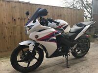 Honda cbr 125cc 2012 new shape 12 months mot not yzfr125 cbf rs aprilia