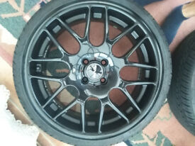 "18"" Riva Black Alloy 4 stud wheels"