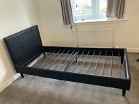 As new faux leather bed frame