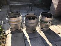 Beer keg planters
