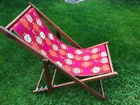 Next red fun print full size deckchair £15