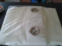 Cream Ring Top Curtains