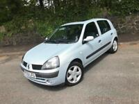 RENAULT CLIO 1.2 16V DYNAMIQUE 5 DOOR ** WOW ONLY 46,000 MILES - NEW MOT **