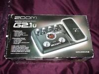 zoom g2.1u guitar efects pedal