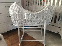 Moses basket and stand £100