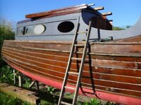 Boat parts 1936 Banham Classic Wooden Boat Being Dismantled