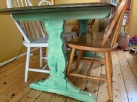 Ercol green dining table