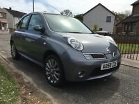 * Nissan Micra 1.4 TEKNA 5 DOOR * 2009 * FSH *LIKE CORSA CLIO FIESTA PUNTO CHEAP ECO + GOOD 1ST CAR