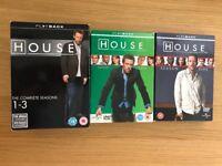 House M.D. DVDs seasons 1-5