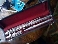 Henri selmer paris solid silver professional flute