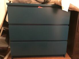 Blue ikea chest of drawers