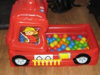 Inflatable Fire Engine Ball Pit inlcuding 2 packs of balls