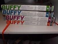 4 VOLUMES OF BUFFY THE VAMPIRE SLAYER LARGE HARDBACK COMIC BOOKS. CONDITION EXCELLENT £40 ONO