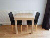 Oak dining table (NEXT) & 2 Chairs