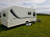 2011 Bailey Orion 430 4 Berth Fixed Bed Lightweight Caravan, With air Awning and Motor mover.