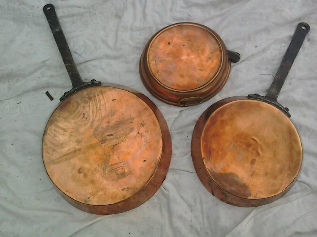 Copper frying pans