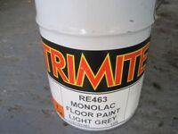 TRIMITE - Tin of Light Grey Floor Paint (New/Unopened)