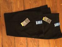 2pairs new M&S black school trousers