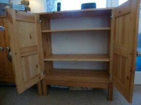 Two Solid Pine Wooden Cupboards purchased from Ikea