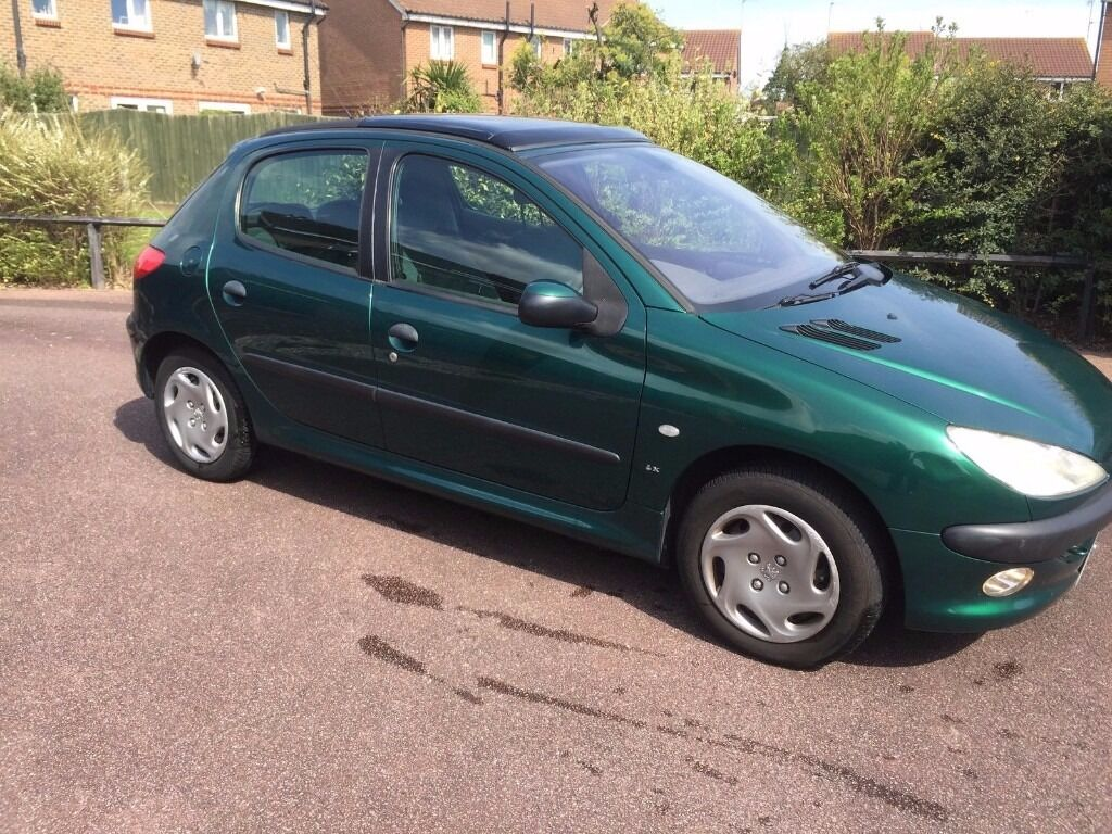 2002 peugeot 206 lx hdi green 1 4 hdi 70 mpg 30 tax diesel mot end of march 2017 in. Black Bedroom Furniture Sets. Home Design Ideas