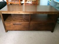 Solid wood TV unit/table/stand with drawers