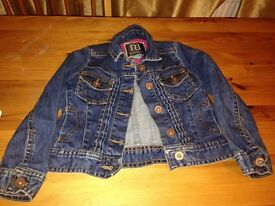 River island denim jacket age 3 vgc